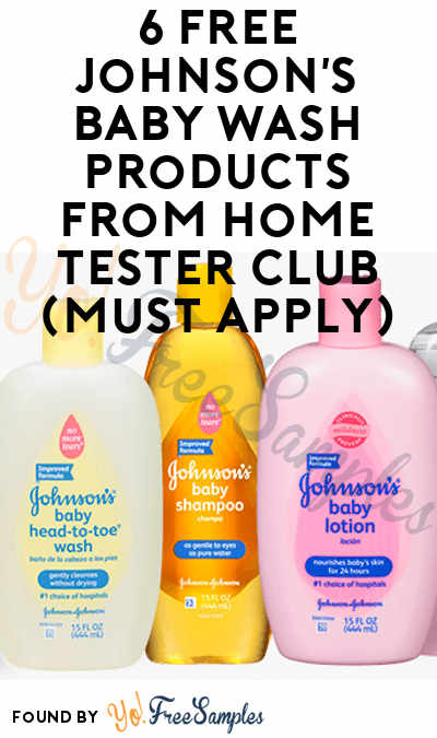 6 FREE Johnson's Baby Wash Products From Home Tester Club (Must Apply)