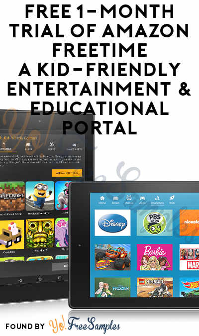 FREE 1-Month Trial Of Amazon FreeTime, A Kid-Friendly Entertainment & Educational Portal