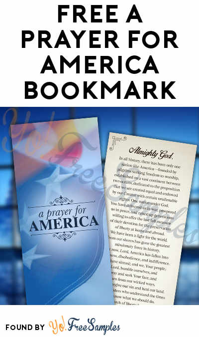 FREE A Prayer For America Bookmark