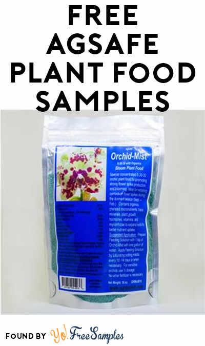 FREE AgSafe Plant Food Samples