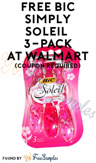 FREE Bic Simply Soleil 3-Pack + Profit At Walmart (Coupon Required)