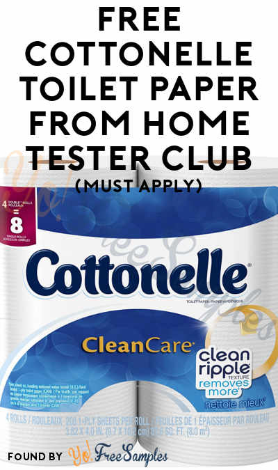 FREE Cottonelle Toilet Paper From Home Tester Club (Must Apply)