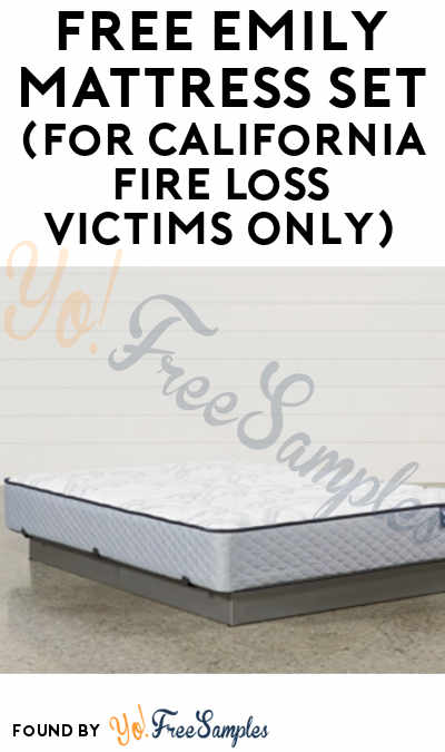 FREE Emily Mattress Set (For California Fire Loss Victims Only)
