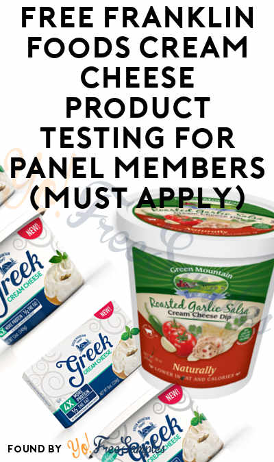 FREE Franklin Foods Cream Cheese Product Testing For Panel Members (Survey Required)
