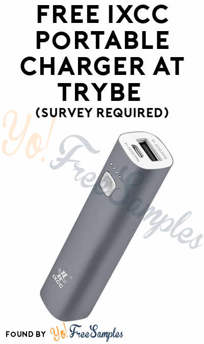 FREE IXCC Portable Charger At Trybe (Survey Required)