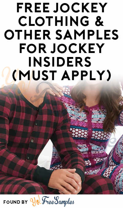 FREE Jockey Clothing & Other Samples For Jockey Insiders (Must Apply)