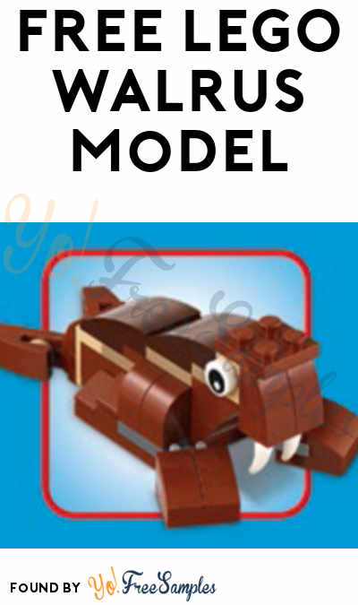 Registration Open: FREE LEGO Walrus Model From Mini Model Build Event January 9th & 10th