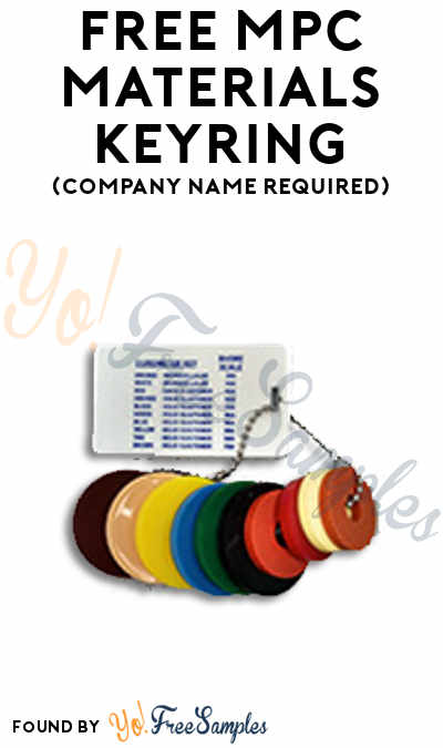 FREE MPC Materials Keyring (Company Name Required)