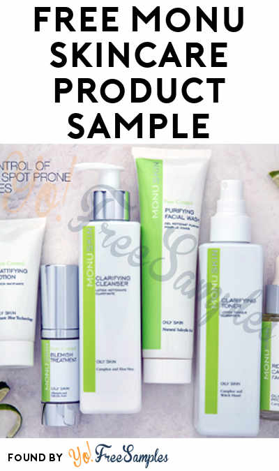 FREE Monu Skincare Product Sample (Facebook Required)