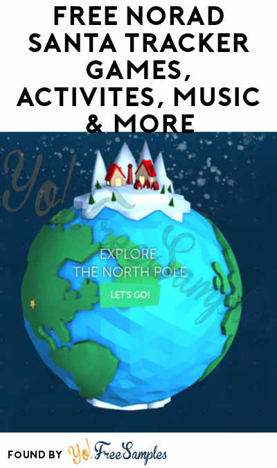 FREE NORAD Santa Tracker Games, Activites, Music & More