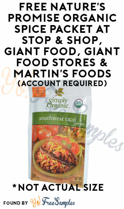 FREE Nature's Promise Organic Spice Packet At Stop & Shop, Giant Food, Giant Food Stores & Martin's Foods (Account Required)