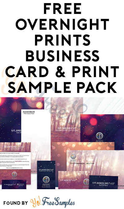 FREE Overnight Prints Business Card & Print Sample Pack