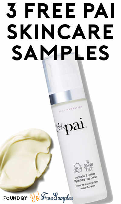 FREE Pai Skincare Avocado Jojoba Hydrating Day Cream & Many Other Samples (Short Survey Required)
