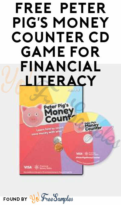 FREE  Peter Pig's Money Counter CD Game For Financial Literacy
