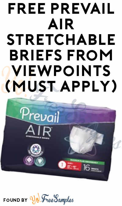 FREE Prevail Air Stretchable Brief​s From ViewPoints (Must Apply)