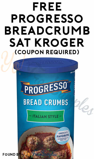 TODAY (12/20) ONLY: FREE Progresso Breadcrumbs At Kroger (Coupon Required)