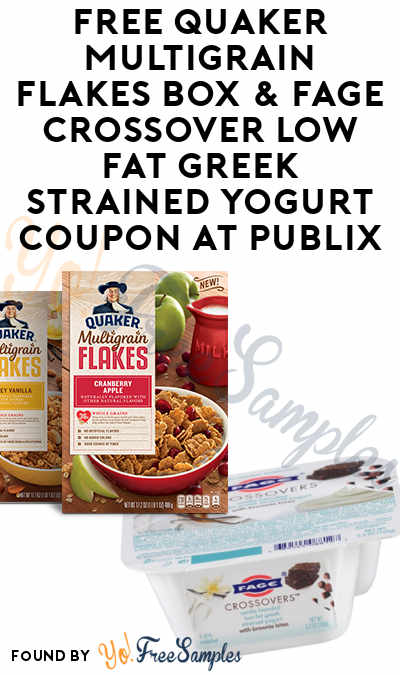 FREE Quaker Multigrain Flakes Box & Fage Crossover Low Fat Greek Strained Yogurt Coupon At Publix
