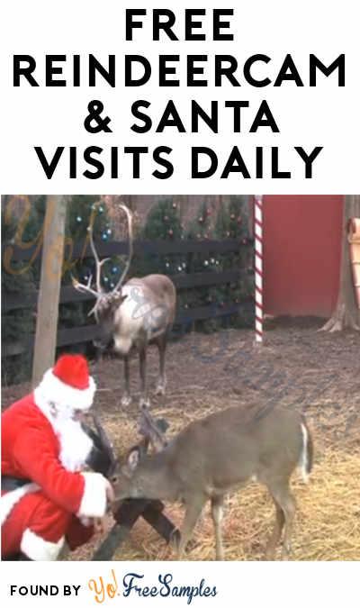 FREE ReindeerCam & Santa Visits Daily
