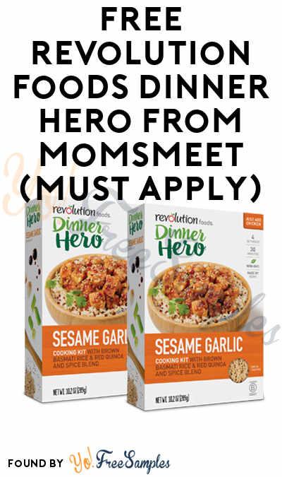 FREE Revolution Foods Dinner Hero From MomsMeet (Must Apply)