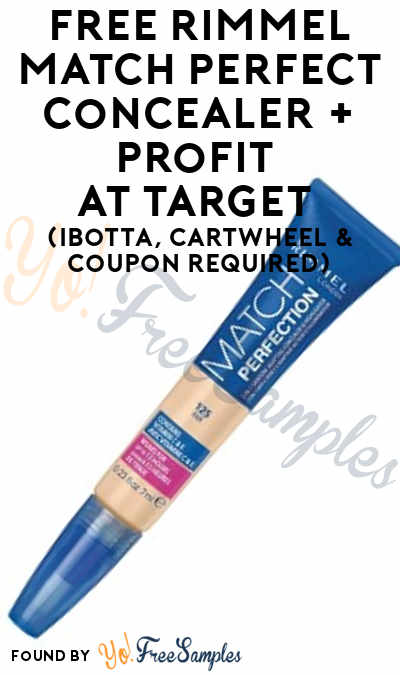 FREE Rimmel Match Perfect Concealer + Profit At Target (Ibotta, Cartwheel & Coupon Required)