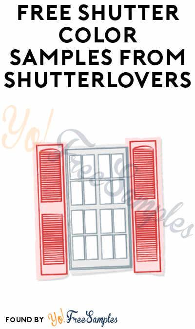 FREE Shutter Color Samples From ShutterLovers