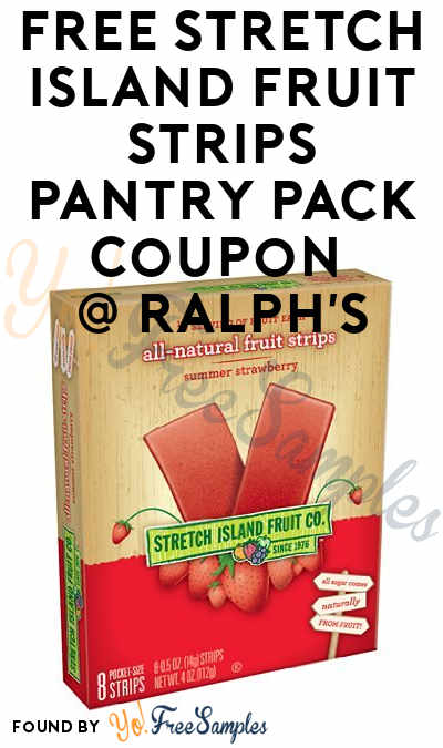FREE Stretch Island Fruit Strips Pantry Pack Coupon At Ralph's
