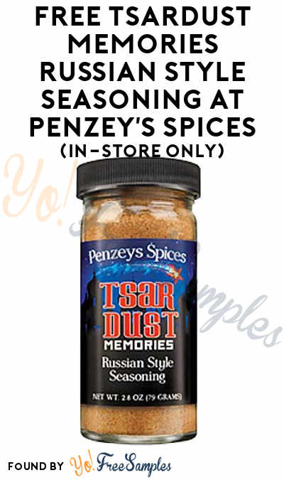ENDS TODAY (12/14): FREE Tsardust Memories Russian Style Seasoning At Penzey's Spices (In-Store Only)