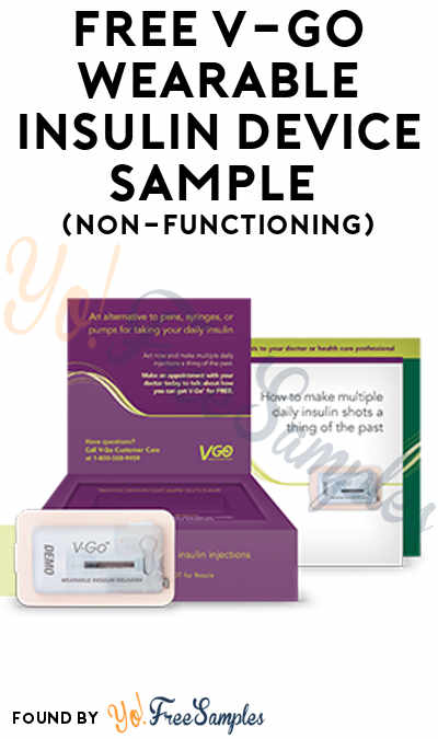 FREE V-GO Wearable Insulin Device Sample (Non-Functioning)