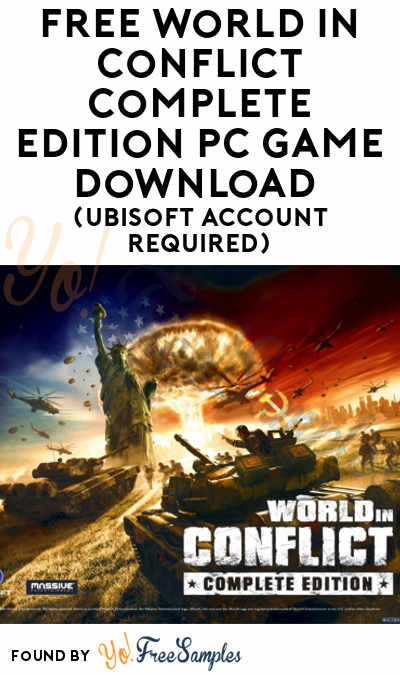 FREE World In Conflict Complete Edition PC Game Download (Ubisoft Account Required)