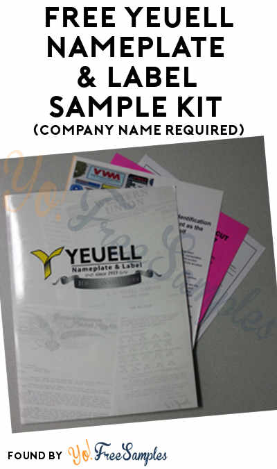 FREE Yeuell Nameplate & Label Sample Kit (Company Name Required)