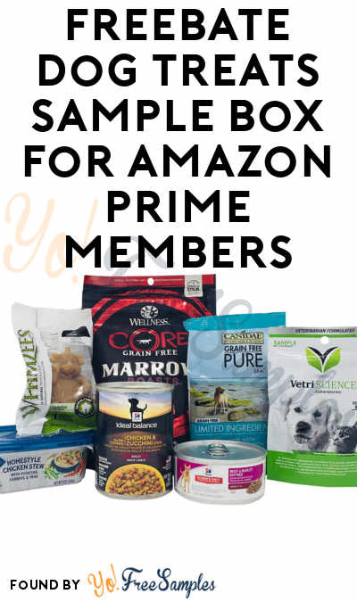FREEBATE Dog Treats Sample Box For Amazon Prime Members
