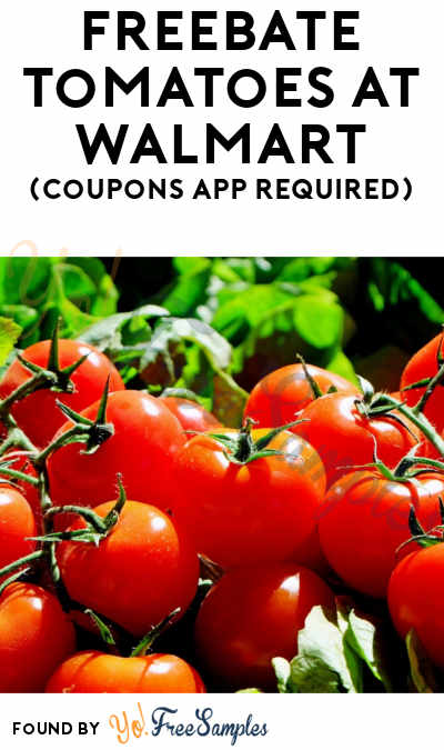 FREEBATE Tomatoes At Walmart (Coupons App Required)