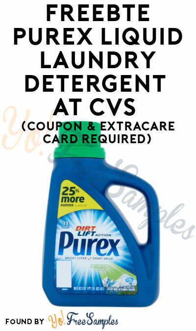 FREEBATE Purex Liquid Laundry Detergent At CVS (Coupon & ExtraCare Card Required)