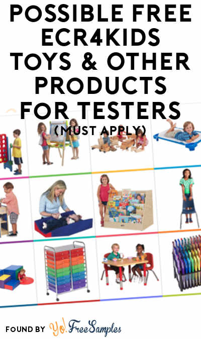 Possible FREE ECR4Kids Toys & Other Products For Testers (Must Apply)