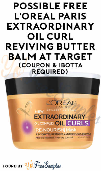 Possible FREE L'Oreal Paris Elvive Extraordinary Oil Curl Reviving Butter Balm At Target (Coupon & Ibotta Required)