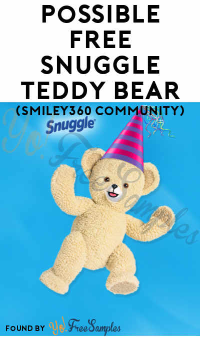 Mission Full: Possible FREE Snuggle Teddy Bear (Smiley360)
