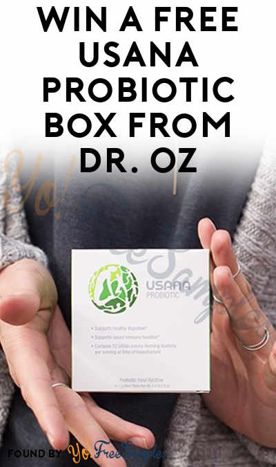 Win A FREE USANA Probiotic Box From Dr. Oz
