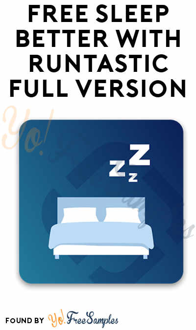 FREE Sleep Better Tracker App Full Version For iOS & Android ($1.99 Normally)