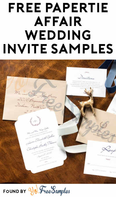 FREE Papertie Affair Wedding Invite Samples