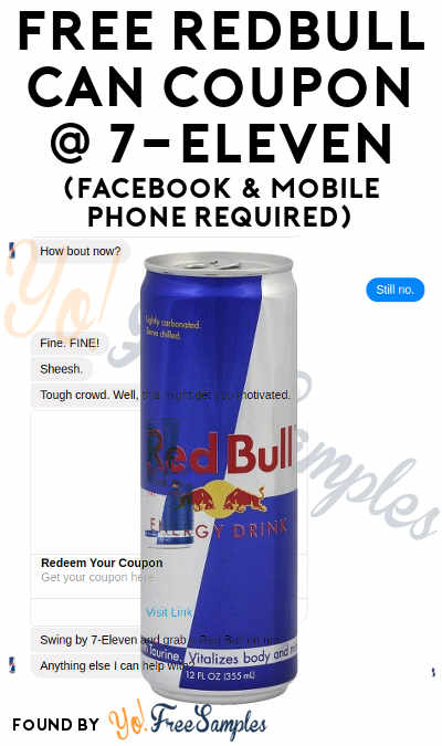 Possible FREE Redbull Can Coupon For 7-Eleven (Boston Area Only, Facebook & Mobile Phone Required)