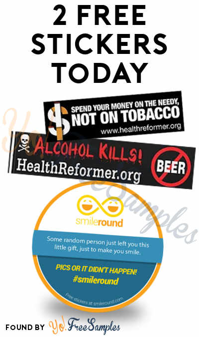 2 FREE Stickers Today: Alcohol Kills + Other Healthy Bumper