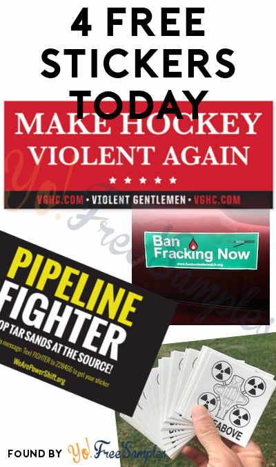 4 FREE Stickers Today: Make Hockey Violent Again Sticker, DroneAbove Stickers, Ban Fracking Bumper Sticker & Pipeline Fighter Sticker