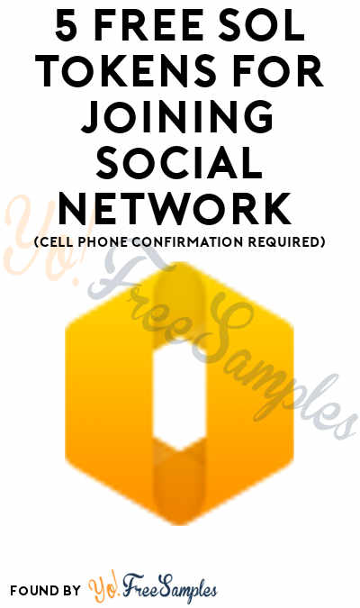 5 FREE SOL Tokens For Joining Social Network (Cell Phone Confirmation Required)