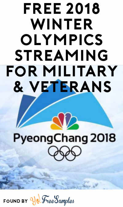FREE 2018 Winter Olympics Streaming For Military & Veterans