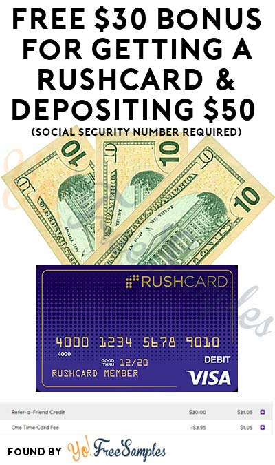 FREE $30+ Bonus For Getting A RushCard & Depositing $50 (Social Security Number Required) [Verified Received]