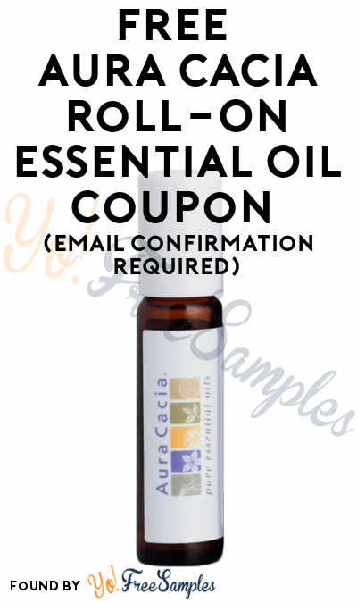 FREE Aura Cacia Roll-On Essential Oil Coupon (Email Confirmation Required)