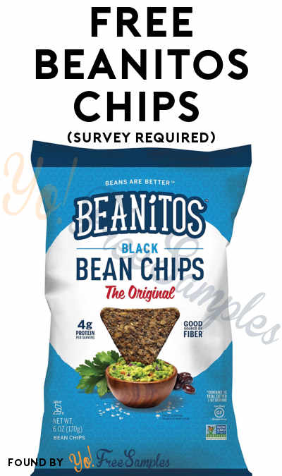 FREE Beanitos Chips (Survey Required)