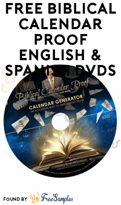 FREE Biblical Calendar Proof English & Spanish DVDs