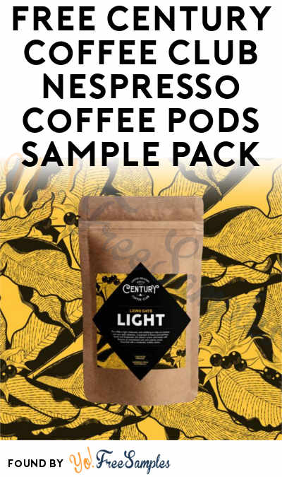 FREE Century Coffee Club Nespresso Coffee Pods Sample Pack