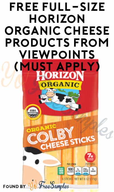 FREE Full-Size Horizon Organic Cheese Products From ViewPoints (Must Apply)